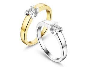 Verlovingsringen wit goud