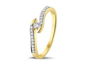 Verlovingsringen geel wit